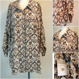White Stag NWT plus size blouse top 3X 22/24W